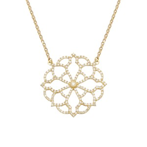 Collier Broderie, Or jaune,...