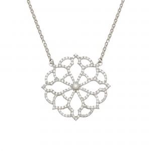 Broderie 项链:白金、钻石