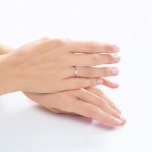 DENTELLE - Bracelet Hibiscus, chaînette & Diamants