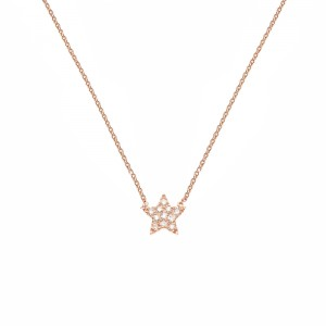 Star Necklace, Plated rose...