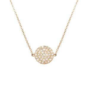 Necklace plated yellow gold...