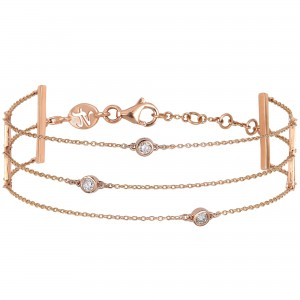 Bracelet rose gold 3 Chains...