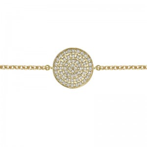 Bracelet Cible pleine, Or...