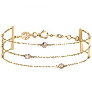 Bracelet 3 chaînettes Or...