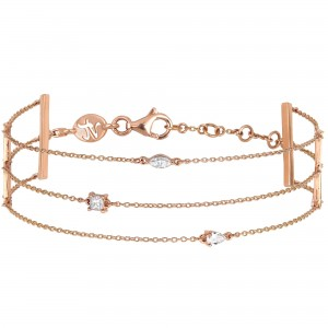 Bracelet Trilogie, Or rose,...
