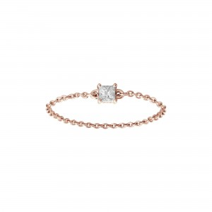 Chain Ring, Rose gold, Diamond