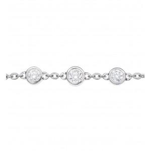 Bracelet chaînette Or blanc...