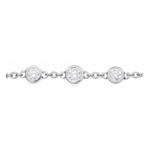 Chain bracelet white Gold...