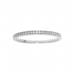 Engagement ring half-paved...