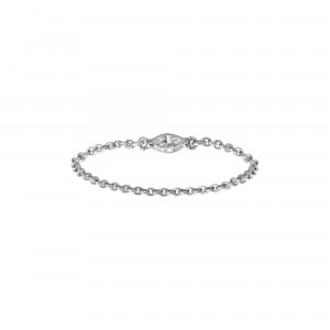 Chain Ring white Gold and...
