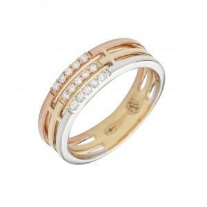 SHAPES - Collier Cross, chaînette & Diamants