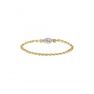Chain Ring, Yellow gold,...