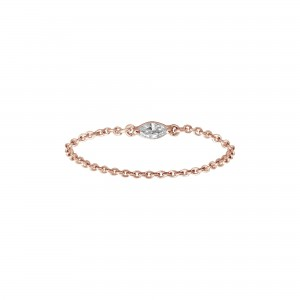 Chain Ring, Rose gold,...