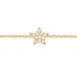 Bracelet Etoile, Plaqué or...