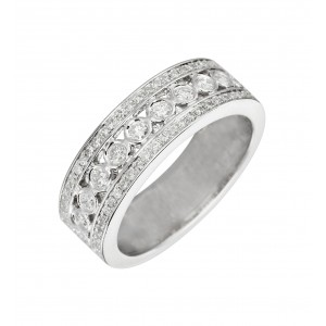 Bague Royale en or blanc