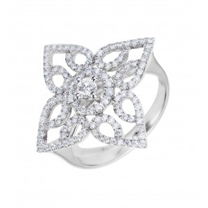 Bague Amaryllis en or blanc