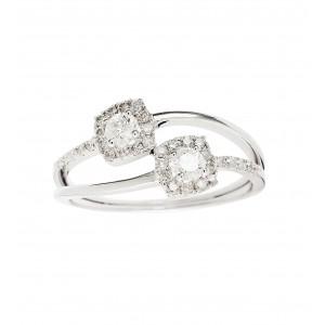 IDYLLE - Boucle d'Oreilles pendantes, La Rose, Diamants