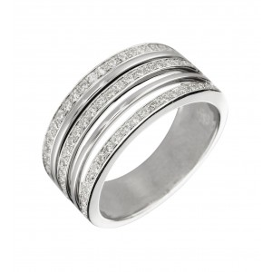 Bague Empire en or blanc...