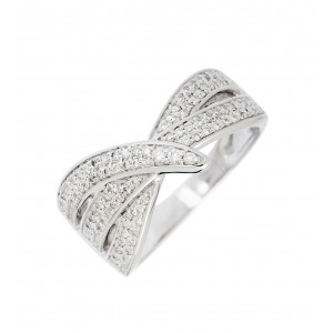 Bague Loop en or blanc...