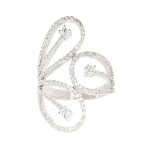 Bague Leaf en or blanc