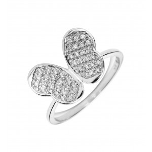 Bague Papillon en or blanc
