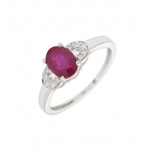 Bague Delacour Rubis en or...