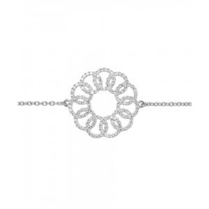 Bracelet Rhodium Silver and...