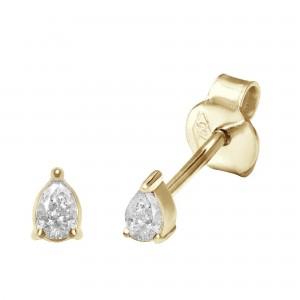 Earrings, Yellow gold, Pear...