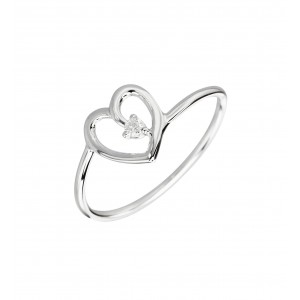 Bague Cupidon solitaire or...