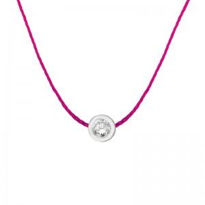 The One 925银钻石幸运红绳项链