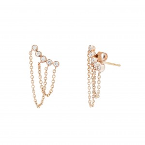 Earrings Pink Gold - DUO...