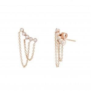Earrings Pink Gold - DUO...