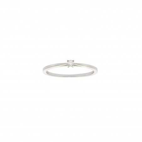 IDYLLE - Boucle d'Oreilles Argent, La Rose, Diamants - Version Argent