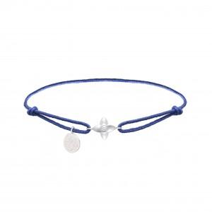 Rhodium Silver Thread Bracelet