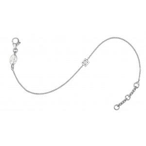MARQUISE - Bracelet double chaînette, Pavé de diamants