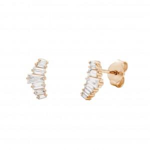 Earrings Pink Gold - BOMERANG