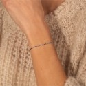 IDYLLE - Bracelet fil, La Rose, Diamants