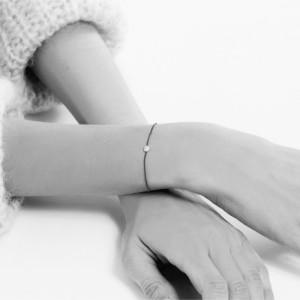 SHAPES - Bracelet Cercle, chaînette & Diamants