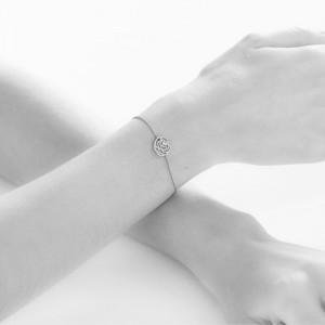 SHAPES - Bracelet chaînette, Petite étoile, Diamants