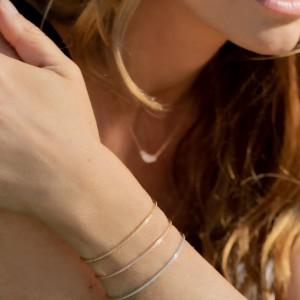 IDYLLE - Bague La Rose, chaînette & Diamants