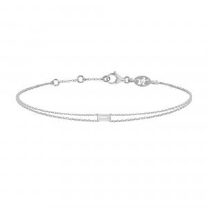 Bracelet Double Chain White...