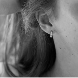 PRECIOUS - Bague jonc, Coeur pavé Diamants