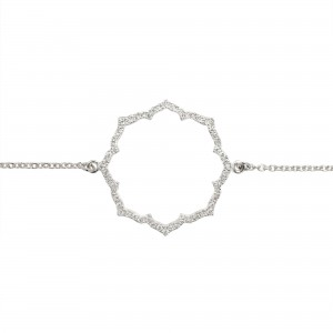 Bracelet Blossom, Or blanc,...