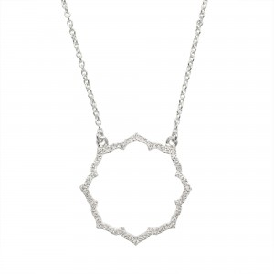 Collier Blossom, Or blanc,...