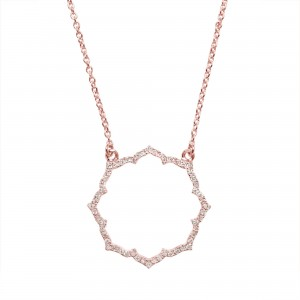 Collier Blossom, Or rose,...