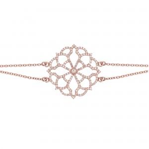 Bracelet Broderie, Or rose,...