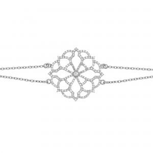 Broderie 手链:白金、钻石