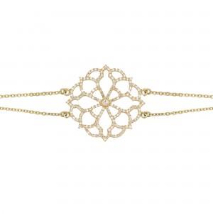 Broderie 手链:黄金、钻石