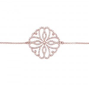 Hibiscus 手链:玫瑰金、钻石