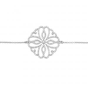 Hibiscus 手链:白金、钻石